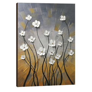 Canvas Wall Art Paintings Picture Hand Paint Original Home Decor Floral Brown $69.90
