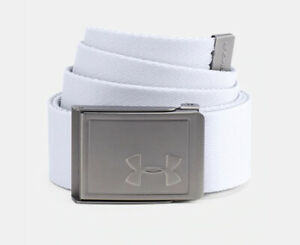 Under Armour UA Golf Webbing 2.0 Men's Reversible Cut to Fit White Gray Belt $20.00