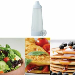 Plastic Squeeze Condiment Bottles with Red Tip Cap 33 OZ for Sauces Salad USA