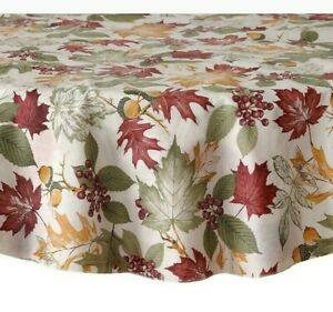 Fall Leaf Melody Vinyl Tablecloth - Choice of Size