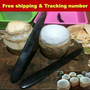 Knife Open Coconut Tool Meat Romover Buffalo Horn Handle Opener Gadget Remove