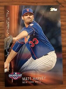 2016 Topps Opening Day Matt Harvey New Mets AR 4