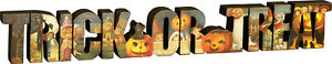 Primitives by Kathy Halloween Tabletop Sitter Trick or Treat 21.5 inch x 3 inch