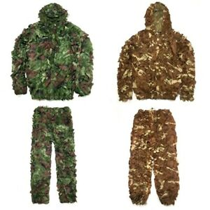 Camouflage Clothing Hunting Suit Camo Ghillie Suit Outdoor Hide Jungle Desert