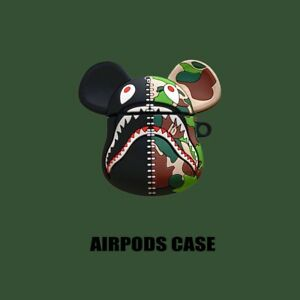 3D Cute Camouflage Rat Silicon Case Protector Covers For Apple AirPods 1 amp; 2