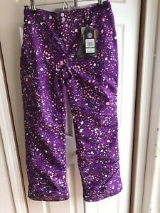 Girls Under Armour Purple Cold Gear primaloft snow ski pants $100 Storm Youth Lg $26.99