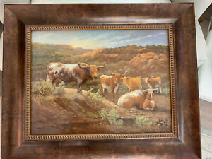 TEXAS LANDSCAPE ORIGINAL SIGNED OIL PAINTING $525.00