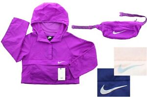 Nike Girls Pack It Jacket Sportswear Hip Pack Lightweight Packable Pullover Coat $9.99