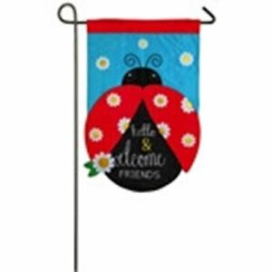 "Hello and Welcome Friends 168725 Evergreen Applique Garden Flag 12.5"" x 18"""