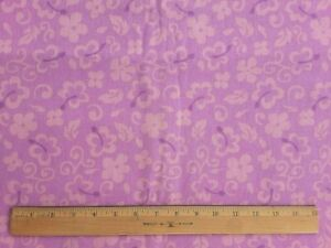100% Cotton Canvas Peach Flowers on Pink Fabric 1 Yd X 45quot; Great for Sewing Bags $5.99