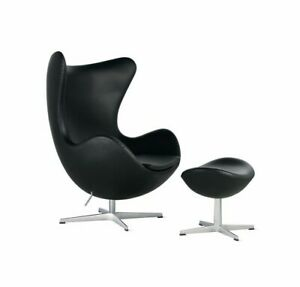Authentic Fritz Hansen Egg Chair and Ottoman  Design Within Reach