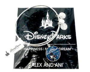Disney Alex And Ani Space Mountain 40th Anniv. Bangle Bracelet Silver Sealed $29.95