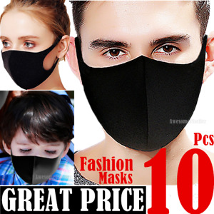 Black Women Men Unisex Face Masks Cloth Cover Fashion Mask Washable Reusable USA