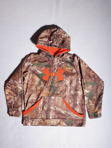 Under Armour Boys Pull Over CAMO HOODIE Size YLG $24.95