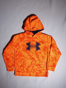 Under Armour Boys ORANGE CAMO HOODIE Size YMD $24.95