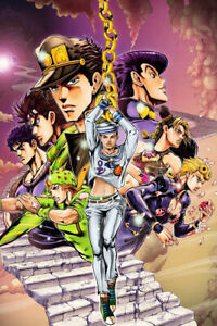 JoJo#x27;s Bizarre Adventure Eyes Heaven Art Wall Indoor Room Poster POSTER 24x36 $18.99
