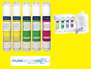 Pure Blue H2O Filter 5PC Reverse Osmosis Filter System Replacement Filters $147.99