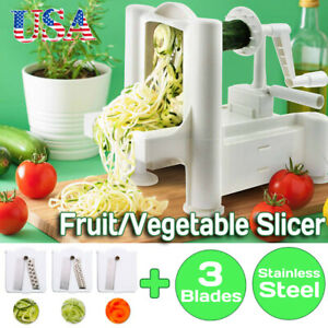 Vegetable Spiralizer Veggie Zucchini Spiral Slicer Food Noodle Maker Cutter New