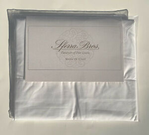 Sferra PERCALE White King Pillowcases 100% Long Staple Cotton $85 Retail