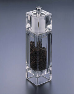 Acrylic Lucite Salt Shaker and Pepper Mill
