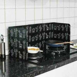 Folding Kitchen Cooking Oil Splash Screen Cover Anti Splatter Stove Shield Guard $7.72