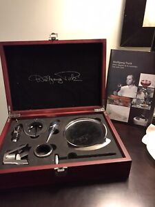 NEW WOLFGANG PUCK 10th ANNIVERSARY EDITION WINE OPENER AND ACESSORIES