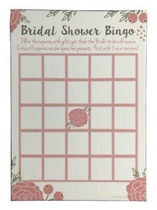 Pink Blossoms Floral Bridal Shower Bingo Game Cards 20 Count Kitchen amp; Amp