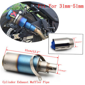 51mm Universal Stainless Motorcycle Exhaust Pipe Muffler Tail Slip On $67.99