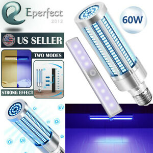 LED UV Germicidal Lights 60W Disinfection Lamp UVC Ozone Ultraviolet Sterilizer
