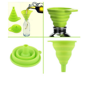 Silicone Collapsible Funnel Foldable Kitchen Funnel for Water Bottle Liquid