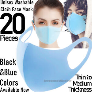 20Pcs Men Women Face Mask Reusable Washable Clothing Covering NEW Cover Masks $14.93