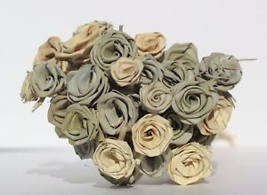 All Natural Small 3 Tone 3 Shade 40 Rose Bouquet w Everlasting handmade Roses