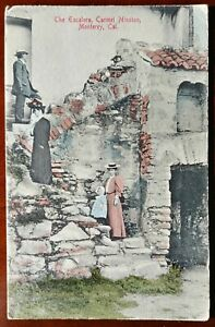 RARE NEW VTG Monterey CA Carmel Mission Escalaro Postcard Real Photo RPPC 1900s