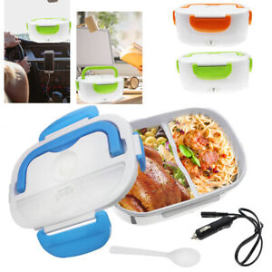 12V Portable Car Electric Heating Lunch Box Food Heater Bento Warmer 3 Colors
