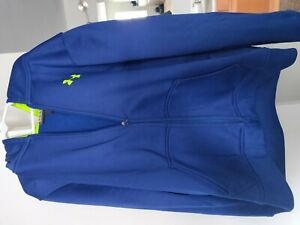 Under Armour Youth Large Boys Blue Hoodie Zip Jacket $14.99