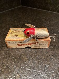 vintage Heddon dowagiac crazy crawler red head fishing lure With Box rare!!
