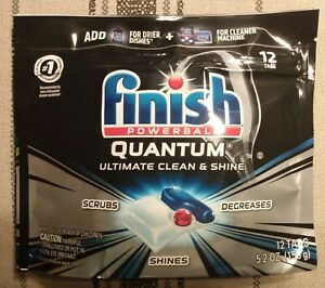 (1) Finish Quantum Powerball Dishwasher Tablets***12 Count***Sealed***