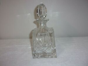 BEAUTIFUL!  CRYSTAL ETCHED DECANTER with CRYSTAL STOPPER 12