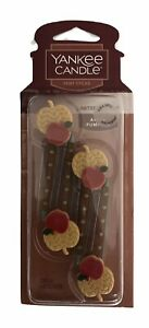 1X Set Of 4 Yankee Candle Apple Pumpkin Vent Stick Air Fresheners Limited Editi