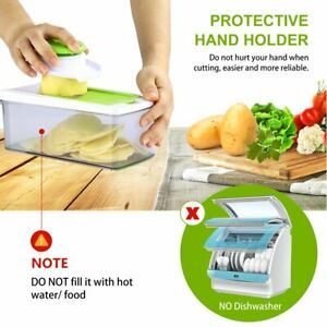 13pcs Slicer Plus Vegetable Fruit Peeler Dicer Cutter Chopper Nicer Grater Home