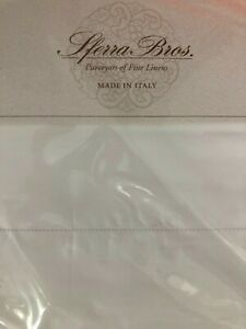 SFERRA KING SHEET SET LONG STAPLE COTTON PERCALE   ITALY