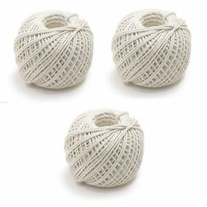 3 NEW  BUTCHER'S STRING TWINE BIODEGRADABLE 100% COTTON TRUSSING MEAT-246'