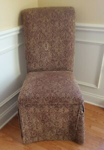 BOMBAY FURNITURE DINING ROOM KITCHEN CHAIR SET 6 HIGH BACK CUSHIONED