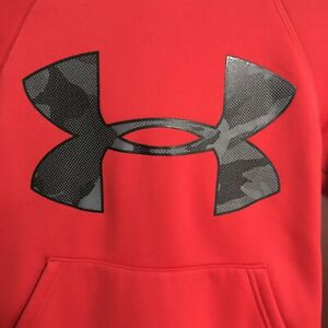 Under Armour Cold Gear Red Black Hoodie Storm Youth Small 7 8 $9.99