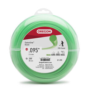 Oregon 21-395 .095 288ft Round String Trimmer Cutting Line 1lb Donut Weed Eater