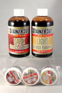 New STAINZ-R-OUT Wood MAGIC Floor Furniture Scratch Dent REPAIR KIT RENEW FINISH
