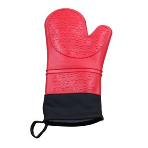 Silicone Oven Mitt Cooking Mitt with Extra Long Canvas Stitching Glove Hea C1M2