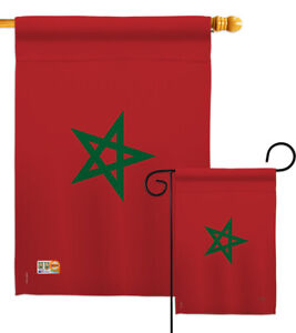 Morocco Garden Flag Regional Nationality Small Decorative Gift Yard House Banner