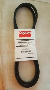DAYTON Fabric Cover, Rubber Body, Polyester Cords V Belt, 4L730H, Set of 2