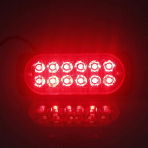 12LED Work Light Bar Driving Fog Lamp Safety 36W Red For Offroad Car/SUV/Truck